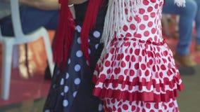 Hiszpania - Flamenco Kobiety tanczy flamenko w tradycyjnych sukniach zbiory wideo