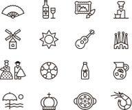 Hiszpania ikony Zdjęcia Royalty Free