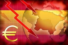 Hiszpania kryzysu tła informacja ilustracja wektor