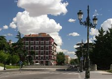 Hiszpania Madryt wybuch Królewski kwadrat obrazy stock