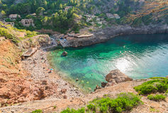 Hiszpania Majorca Cala De Deia plaża obraz stock
