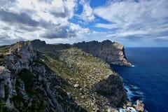 Hiszpania Majorca Nakrywający De Formentor zdjęcie royalty free