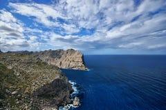 Hiszpania Majorca Nakrywający De Formentor obraz stock