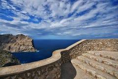 Hiszpania Majorca Nakrywający De Formentor fotografia stock