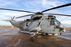 Hiszpania marynarki wojennej Sea King helikopter zdjęcia royalty free