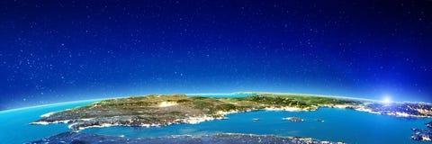 Hiszpania miasta światła zdjęcia stock