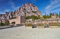 Hiszpania, monaster Santa Maria de Montserrat Gora Zdjęcia Royalty Free