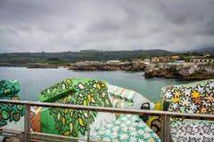 Hiszpania nadmorski wioska zdjęcie royalty free