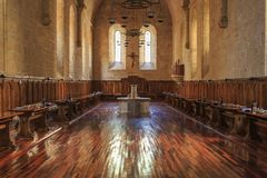 Hiszpania Poblet monaster w Catalonia, obraz royalty free