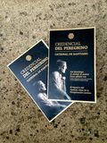 Hiszpania Santiago de camino Credencial Del Peregrino pielgrzymi Obrazy Royalty Free