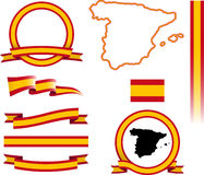 Hiszpania sztandaru set Zdjęcie Royalty Free