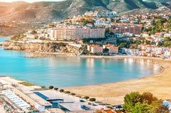 Hiszpania Walencja, Peniscola Widok morze od wzrosta Po Obrazy Stock