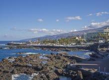 Hiszpania, wyspy kanaryjska, Tenerife, Puerto De Los angeles Cruz, Grudzień 23, zdjęcia royalty free