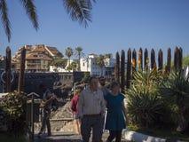 Hiszpania, wyspy kanaryjska, Tenerife, Puerto De Los angeles Cruz, Grudzień 23, Obrazy Stock