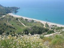 Hiszpanii na plaży Obrazy Royalty Free