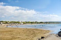 Hiszpanii na plaży Fotografia Royalty Free