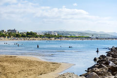 Hiszpanii na plaży Zdjęcia Royalty Free