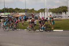 Hiszpański kolarstwo wycieczki turysycznej los angeles Vuelta Fotografia Stock