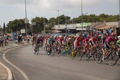 Hiszpański kolarstwo wycieczki turysycznej los angeles Vuelta Zdjęcia Stock