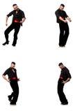 Hiszpański tancerz w różnorodnych pozach na bielu Zdjęcia Royalty Free