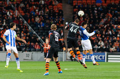 Hit Ball defender Yaroslav Rakitskiy Shakhtar Donetsk Royalty Free Stock Photos