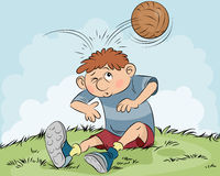 Hit a ball on head Stock Illustration