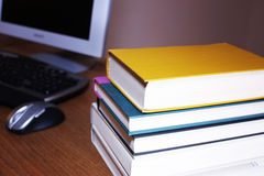 Hit the books royalty free stock image