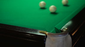 Hit in the corner pocket stock footage