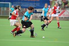 Hit in czech women field hockey extraleague Royalty Free Stock Image