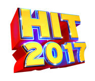 Hit 2017 - 3d logo. 3d render colorful logo of Hit 2017 - isolated on white Royalty Free Stock Photography