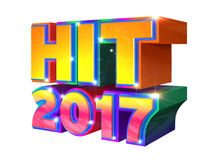 Hit 2017 - 3d logo Stock Images