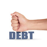 Hit the debt Royalty Free Stock Photo
