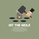 Hit The Mole Fun Game royalty free illustration