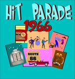 Hit parade backgrond Stock Image