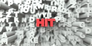 HIT -  Red text on typography background - 3D rendered royalty free stock image. This image can be used for an online website banner ad or a print postcard Royalty Free Stock Photography