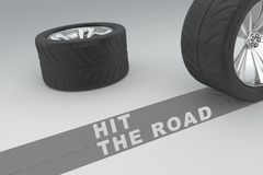 Hit the Road concept Stock Image