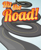 Hit the road Royalty Free Stock Images