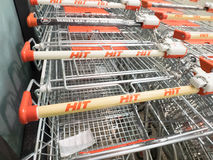 Hit shopping carts Royalty Free Stock Photos