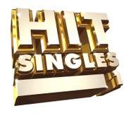 Hit Singles volume 1 - Golden 3d logo Stock Photo