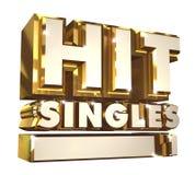 Hit Singles volume 1 - Golden 3d logo Royalty Free Stock Image
