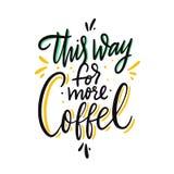 Hit?t f?r mer kaffe F?r vektorbokst?ver f?r hand utdraget citationstecken bakgrund isolerad white royaltyfri illustrationer