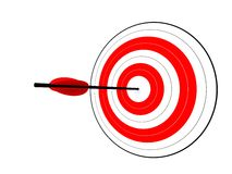 Hit the target Stock Images