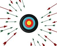Target with arrows isolated Royalty Free Stock Image