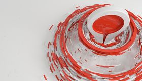 Hit the target and be on top concept  on white 3d render. Ing Stock Images