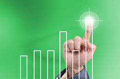 Hit the target, business concept Stock Photography
