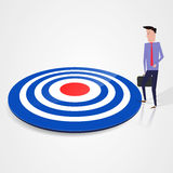 Hit the target Stock Photo