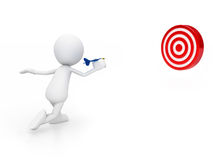 Hit the target Stock Photos