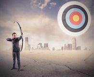 Hit the target Stock Image