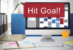 Hit Target Goal Aim Aspiration Business Customer Concept Royalty Free Stock Photo
