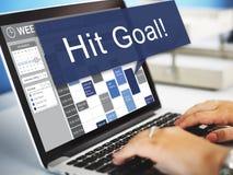 Hit Target Goal Aim Aspiration Business Customer Concept Stock Photo